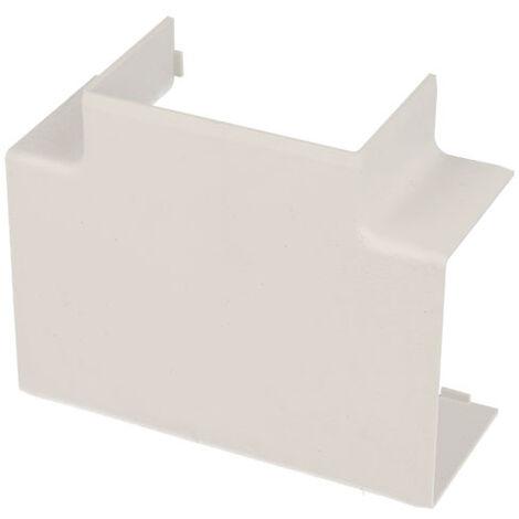 Jonction en T pour goulotte PVC blanc 60 x 40 mm KOPOS
