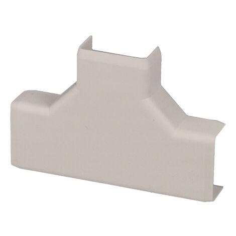 Jonction en T pour moulure PVC blanche 20 x 10 mm KOPOS