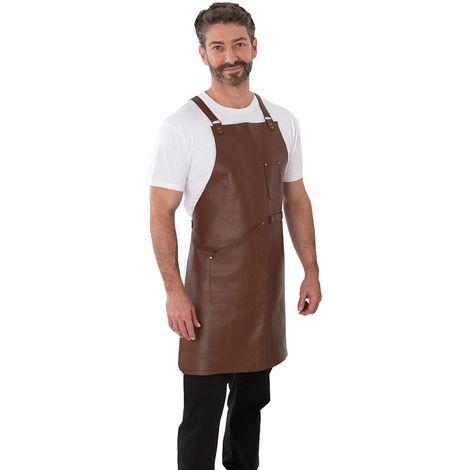 Joseph Alan Unisex Adults Leather Bib Apron (One Size) (Brown)