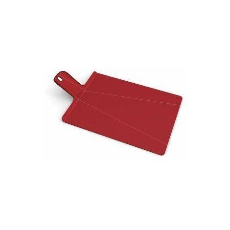 Joseph Joseph 60042 Chop2Pot Planche à Découper Pliable Grand Rouge 27 x 48 x 1,5 cm