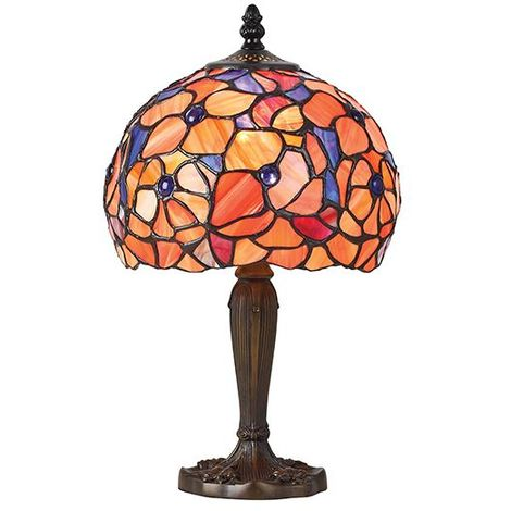 Josette Tiffany Small Table Lamp With Glass Shade 40W