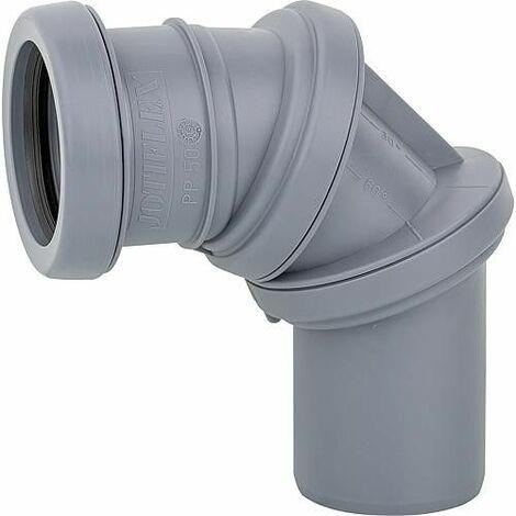Jotiflex coude de tuyaux flexible 0-90° reglable gris 32mm 1 manchon