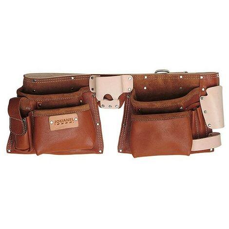 JOUANEL Tablier américain cuir QS avec ceinture, 6 poches et 5 porte-accessoires