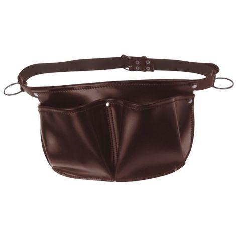 JOUANEL Tablier de charpentier cuir avec ceinture, 2 poches, 2 anneaux