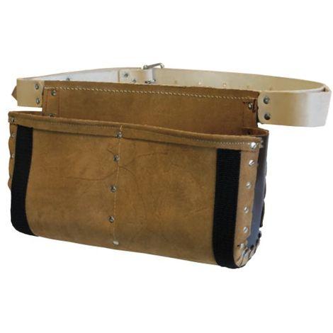 JOUANEL Tablier de coffreur cuir renforcé avec ceinture, 2 poches