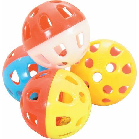 Jouet chat 4 sphere grelot 4cm