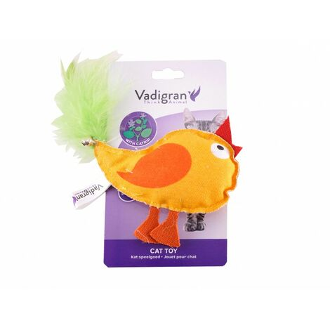 Jouet chat poulet polo orange 10cm