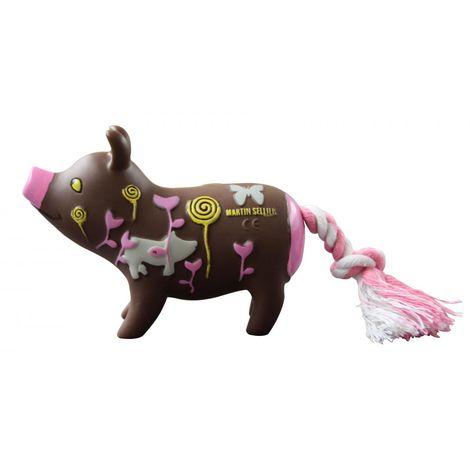 Jouet cochon/corde psycho