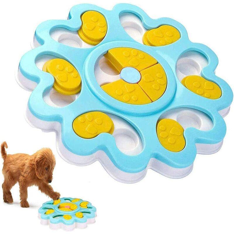 Abcrital - Jouet de nourriture pour chien, distributeur de friandises pour chien IQ bol d'alimentation interactif pour collations, distributeur de