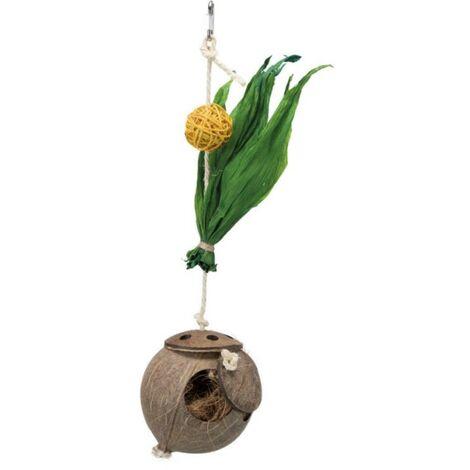 Jouet noix de coco sur corde Trixie
