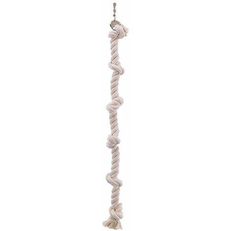 Jouet oiseau corde à grimper coton 4 noeuds 67cm
