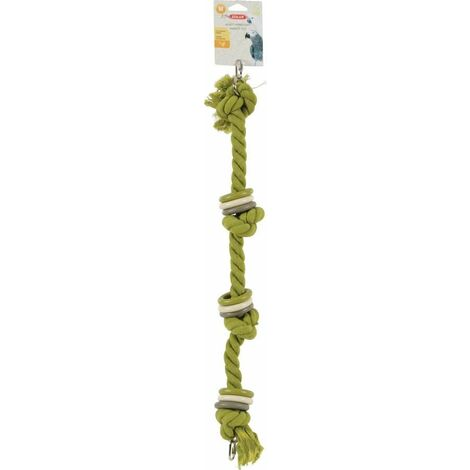 Jouet perroquet corde M