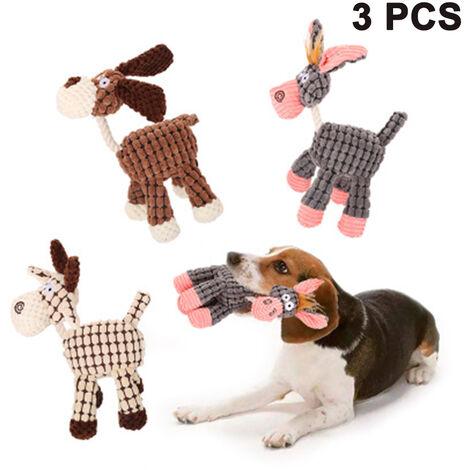 Jouets à mâcher pour chiots, ensemble de 3 jouets de corde pour chiens pour mâcheurs agressifs, jouets pour chiens avec un matériau sûr pour les petits/moyens/grands animaux de compagnie, pour la récréation et le nettoyage des dents