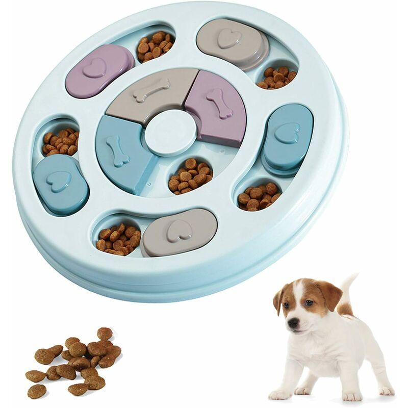 Abcrital - Jouets de puzzle de chien, jouet de puzzle interactif de jeu de chien, distribution de friandises pour le jeu de formation de chiot,