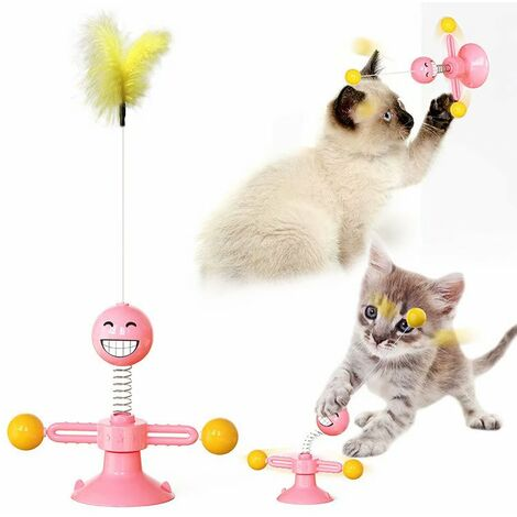 Jouets pour animaux de compagnie Funny Cat Stick Spring People Funny Cat Supplies Fournitures pour animaux de compagnie (Rose