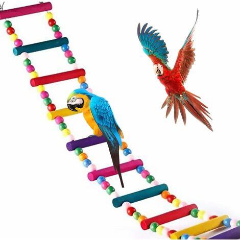 """main image of """"Jouets pour Oiseaux pour Perroquet, échelle, balançoire, Dressage Pont Arc-en-Ciel pour perroquets, perruches, Conures, cokatoo"""""""