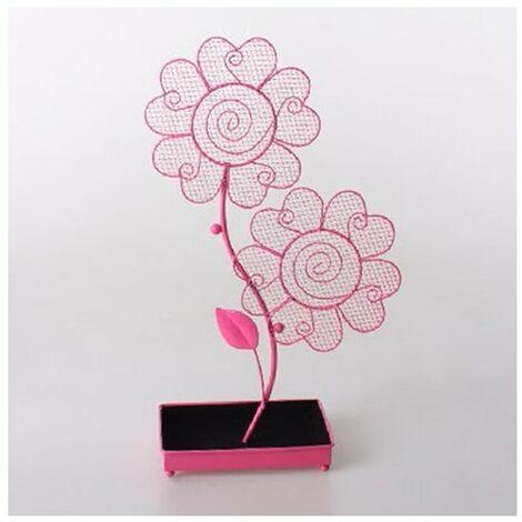 Joyero metal rosa