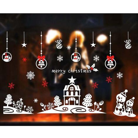 Joyeux Noel Stickers Muraux Fenetre Chambre Decoration Nouvel An Decoration Amovible Serie De Noel