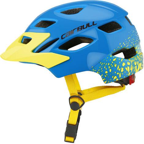 JOYTRACK 2019 casque de glissiere de roue d'equilibre de scooter de velo pour enfants avec feu arriere CAIRBULL-46, bleu et jaune