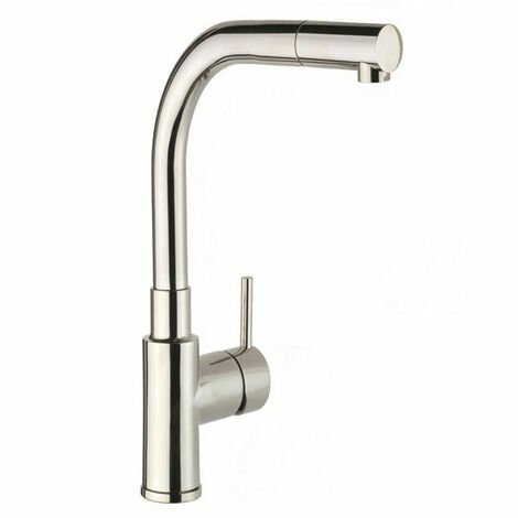 JTP Apco Mono Kitchen Sink Mixer Tap Pull-Out Spout - Stainless Steel