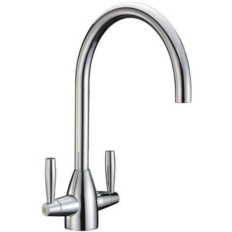 JTP Blink Mono Kitchen Sink Mixer Tap, Dual Handle, Chrome