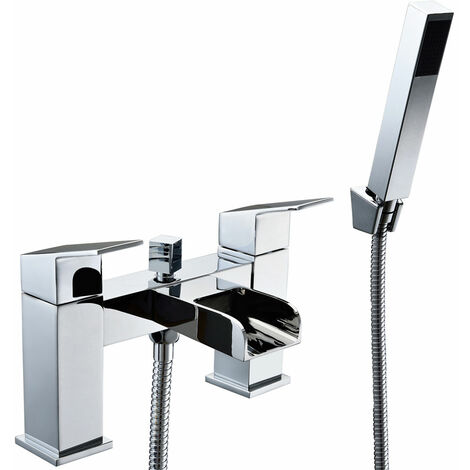 JTP Cami Lever Deck Mounted Bath Shower Mixer Tap with Kit - Chrome