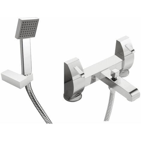 JTP Carlo Bath Shower Mixer Tap Pillar Mounted - Chrome