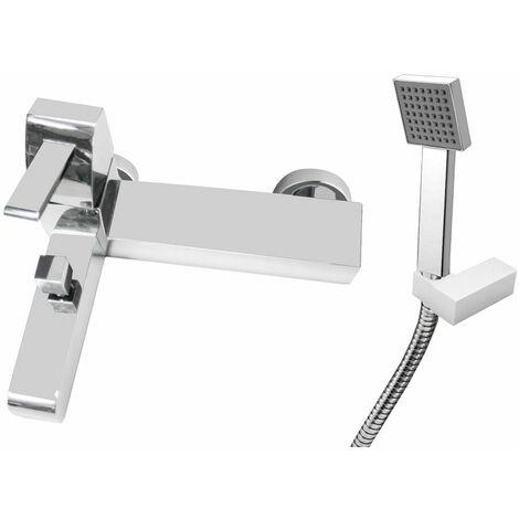 JTP Carlo Bath Shower Mixer Tap Wall Mounted - Chrome