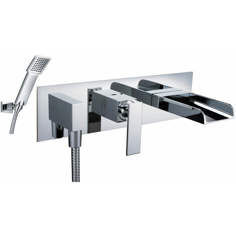 JTP Cascata Concealed Bath Shower Mixer Tap Wall Mounted - Chrome