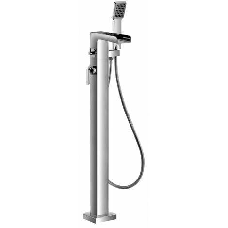 JTP Cascata Single Lever Bath Shower Mixer Tap Floor Mounted - Chrome