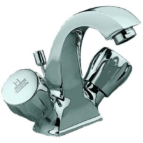 JTP Continental Mono Basin Mixer Tap with Pop Up Waste Dual Handle - Chrome