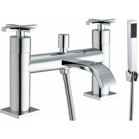 JTP Detail Deck Mounted Bath Shower Mixer Tap with Kit - Chrome