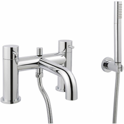 JTP Florence Deck Mounted Bath Shower Mixer Tap with Kit - Chrome