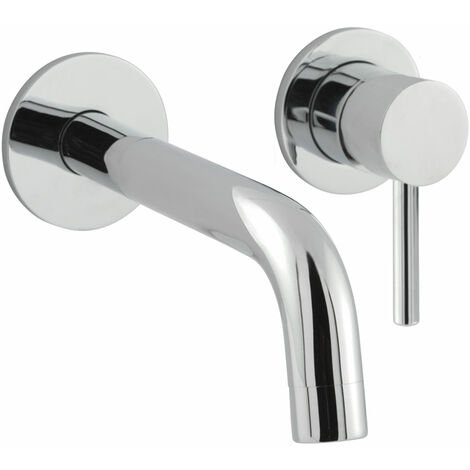JTP Florence Wall Mounted Basin Mixer Tap with Spout - Chrome