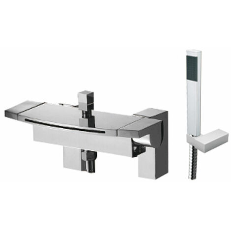 JTP Flow Bath Shower Mixer Tap Pillar Mounted - Chrome