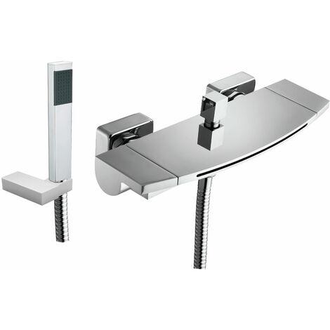 JTP Flow Bath Shower Mixer Tap Wall Mounted - Chrome