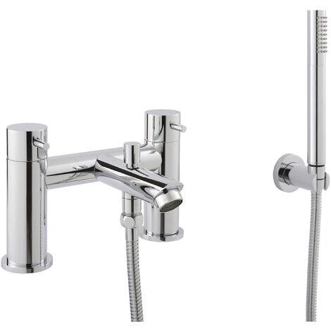 JTP Fonti Deck Mounted Bath Shower Mixer Tap with Kit - Chrome