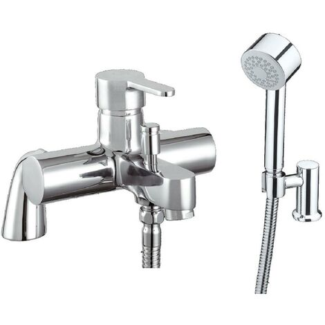 JTP Fusion Single Lever Shower Mixer Tap with Kit Pillar Mounted - Chrome