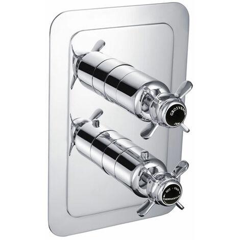 JTP Grosvenor Pinch Thermostatic Concealed 1 Outlet Shower Valve - Chrome/Black