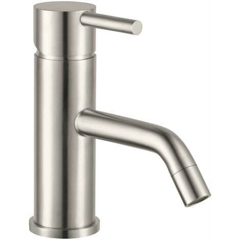 JTP Inox Basin Mixer Tap 110mm Spout - Stainless Steel