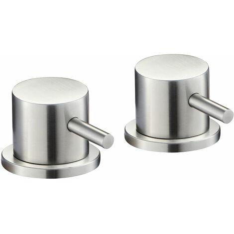 JTP Inox Deck Panel Valves Pair - Stainless Steel