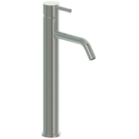 JTP Inox Tall Basin Mixer Tap - Stainless Steel