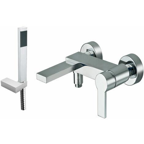 JTP Italia 150 Bath Shower Mixer Tap Wall Mounted - Chrome