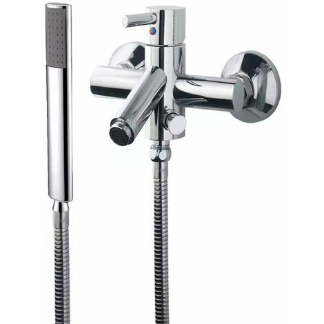 JTP Kavalier Bath Shower Mixer Tap with Kit Wall Mounted - Chrome