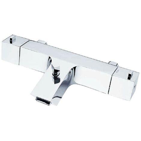 JTP Kubix Bath Shower Mixer Tap Wall Mounted - Chrome
