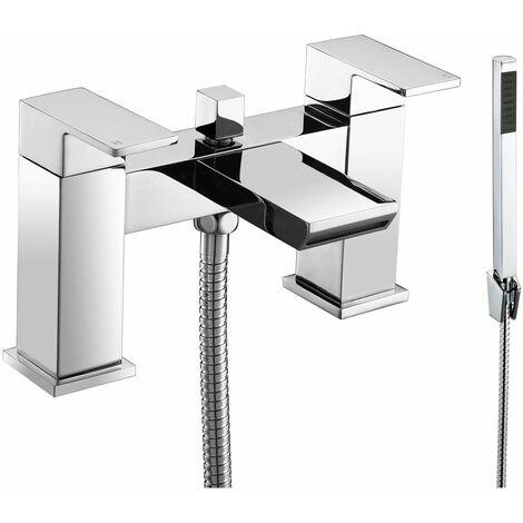 JTP Lava Deck Mounted Bath Shower Mixer Tap with Kit - Chrome