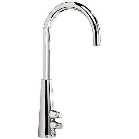 JTP Livaro Mono Kitchen Sink Mixer Tap, Dual Handle, Chrome