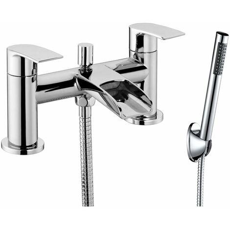 JTP Ravina Deck Mounted Bath Shower Mixer Tap with Kit - Chrome
