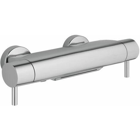 JTP Round Thermostatic Bath Shower Mixer Cascade Spout - Chrome
