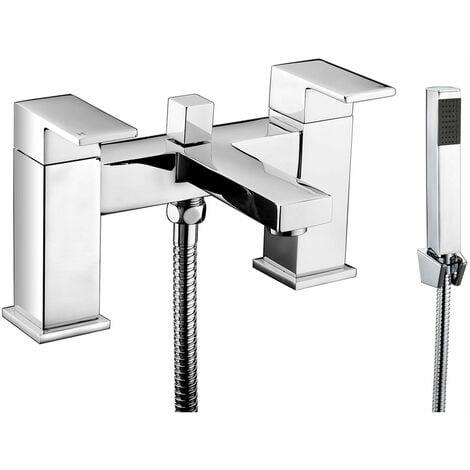 JTP Sable Deck Mounted Bath Shower Mixer Tap with Kit - Chrome
